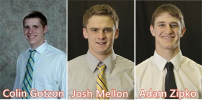 Colin Gotzon, Josh Mellon and Adam Zipko combine for a four hit shutout