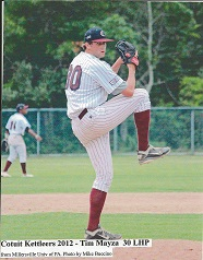 Tim Mayza winds up. Photo courtesy of Cotuit Kettleers
