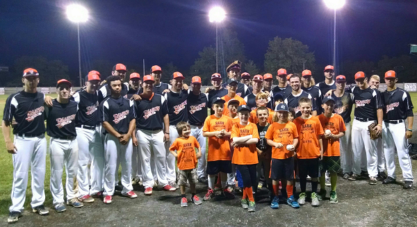 The Quakertown Blazers hosted the Rahn Landscaping Quakertown youth baseball team on June 9 as the Blazers defeated South Jersey 3-1